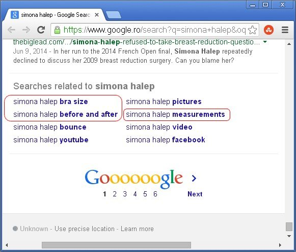 Simona Halep Google Related Searches