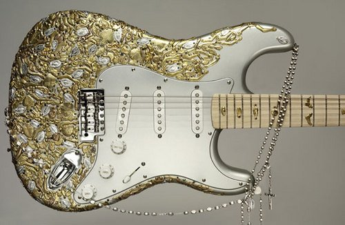 Manele Rock Gold Guitar
